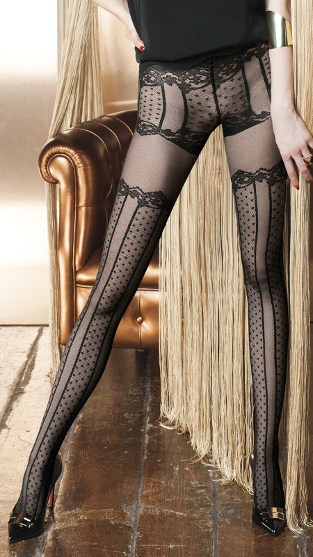ELIODORO PATTERENED TIGHTS BY TRASPARENZE