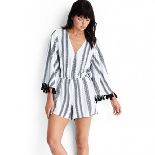JACQUARD STRIPE PLAYSUIT BY SEAFOLLY