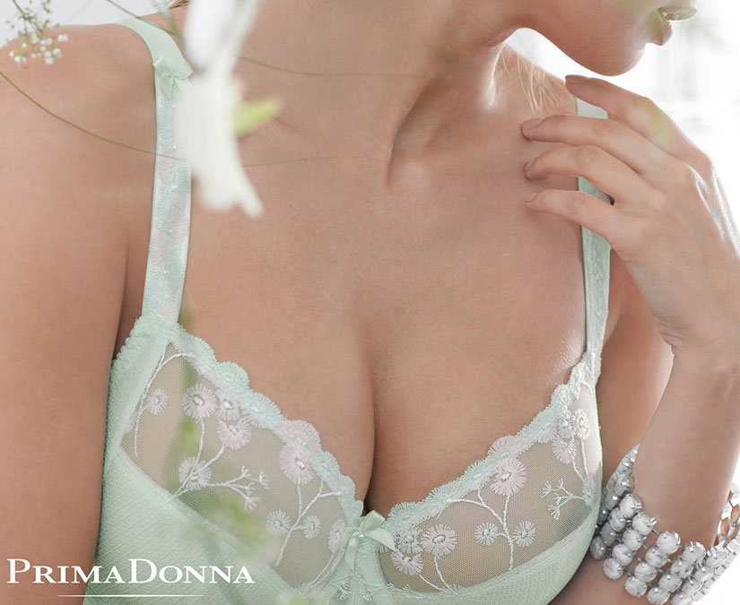 TULIP SHAPE BRA FOR LARGER BUST IN SPRING GREEN