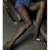 MELLOTRON PATTERNED SOX & TIGHTS BY TRASPARENZE