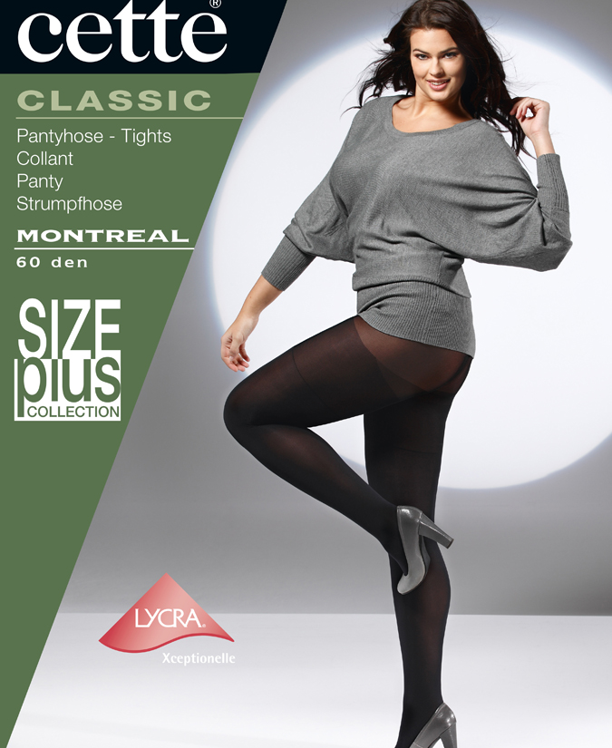 ANTI THIGH CHAFFING SIZE PLUS OPAQUE TIGHTS BY CETTE