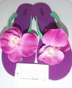 PURPLE FLIP FLOP WITH ORCHID FLOWER