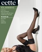 LACE TOPPED STOCKINGS IN BLACK OR NUDE(TENDRESSE) BY CETTE