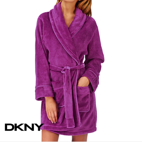 DKNY SIGNATURE ROBE ORCHID PURPLE