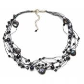 t40-01 silk & stones necklace by Nannapas