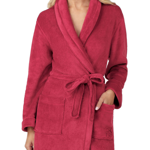 DKNY FLEECE ROBE CRANBERRY